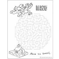 Back-to-School Word Search and Maze Craft