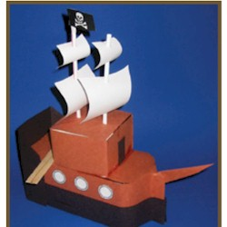Milk Carton Pirate Ship - Kids Crafts