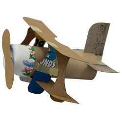 Mini Bi-Plane - Kids Crafts