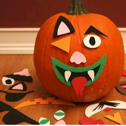 Mix and Match Pumpkin Faces - Kids Crafts