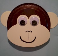 Paper Plate Monkey - Kids Crafts