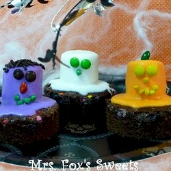 Monster Halloween Brownies - Kids Crafts