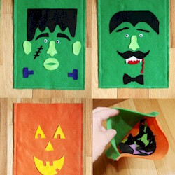 Monster Mash Up Felt Face - Kids Crafts
