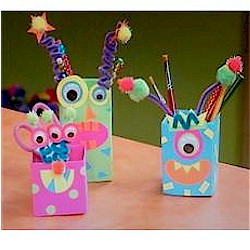 Monster Milk Cartons - Kids Crafts