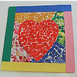 Mosaic Heart - Kids Crafts