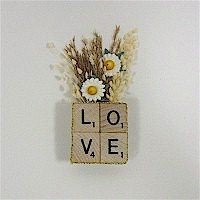 Recycled Scrabble Tile Pin Craft