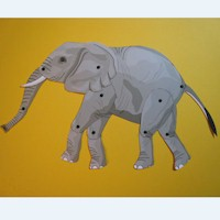 Moveable Puppet Elephant - Kids Crafts