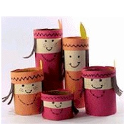 Native American Family - Kids Crafts