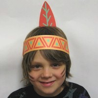 Printable Native American Headdress Craft