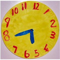 Paper Plate Clock - Kids Crafts