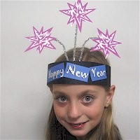 New Years Party Hat - Kids Crafts