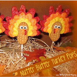 Nutter Butter Turkey Pops Craft
