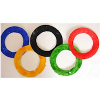 Paper Plate Olympic Rings Craft