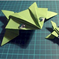 Origami Frog - Kids Crafts