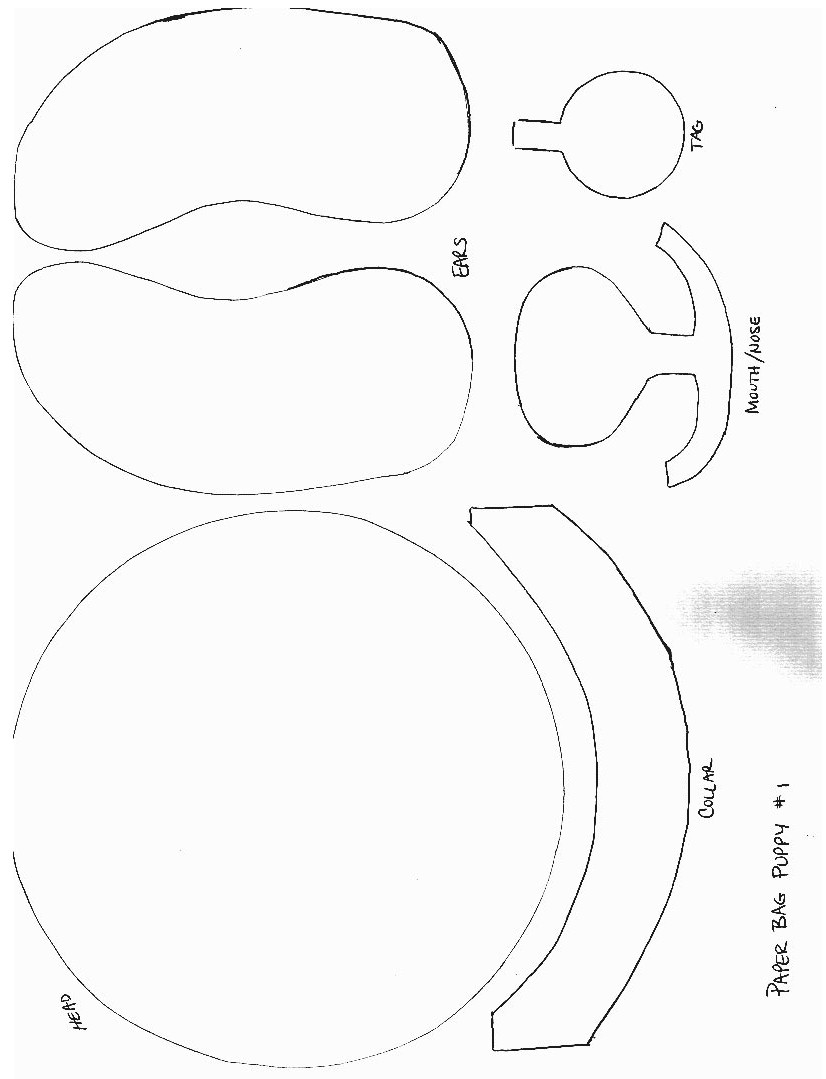 Paper bag puppet patterns for Paper plate puppets templates