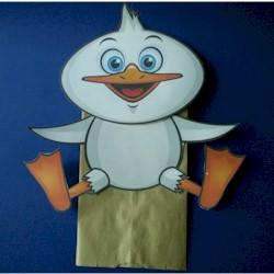 Paper Bag Duck Puppet - Kids Crafts