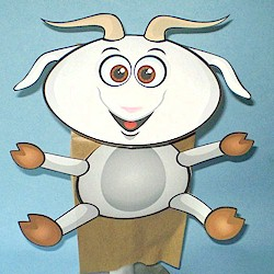 Paper Bag Goat Puppet - Kids Crafts
