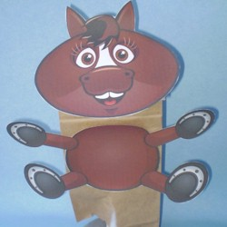 Horse Paper Bag Puppet - Kids Crafts