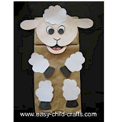 Paper Bag Lamb Puppet - Kids Crafts