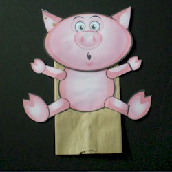 Paper Bag Pig Puppet - Kids Crafts