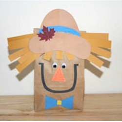 Paper Bag Scarecrow - Kids Crafts
