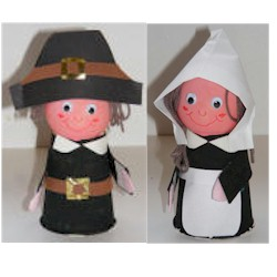 Paper Cup Pilgrims - Kids Crafts