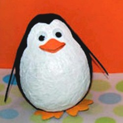 Cute Paper Mache Penguins - Kids Crafts