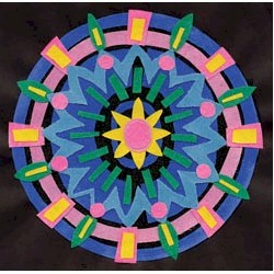 Sanded Paper Mandalas - Kids Crafts