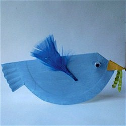 Paper Plate Bluebird - Kids Crafts