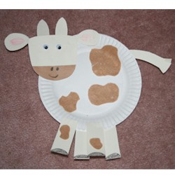 Paper Plate Cow - Kids Crafts