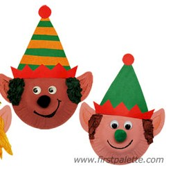 Paper Plate Elf - Kids Crafts