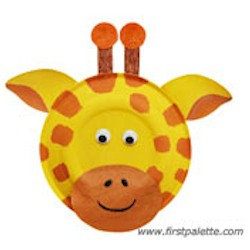 Paper Plate Giraffe - Kids Crafts