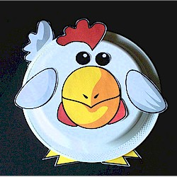 Paper Plate Rooster - Kids Crafts