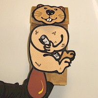 Beaver Paper Bag Puppet Craft