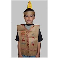 Paper Bag Native American Vest - Kids Crafts