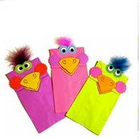 Paper Bag Puppets - Kids Crafts