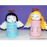 Paper Cup Angels - Kids Crafts