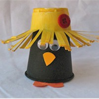 Paper Cup Crow - Kids Crafts