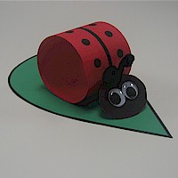 Paper Loop Lady Bug - Kids Crafts