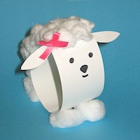 Paper Loop Lamb - Kids Crafts