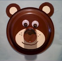 Paper Plate Bear - Kids Crafts
