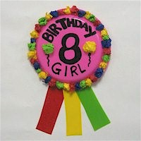 Paper Plate Birthday Ribbon Craft
