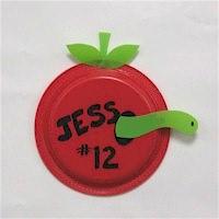 Bulletin Board Apples - Kids Crafts