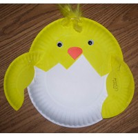 Paper Plate Chick - Kids Crafts