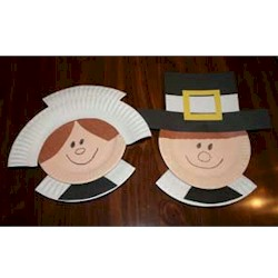 Paper Plate Pilgrims - Kids Crafts