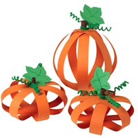 Paper Pumpkins - Kids Crafts