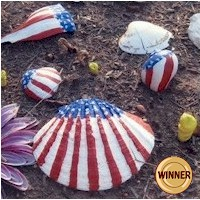 Patriotic Sea Shells - Kids Crafts
