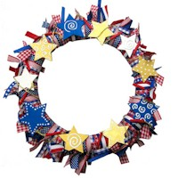 Patriotic Wreath - Kids Crafts