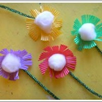 Simple Patty Pan Flowers - Kids Crafts