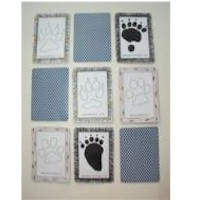Paw Print Memory Game - Kids Crafts